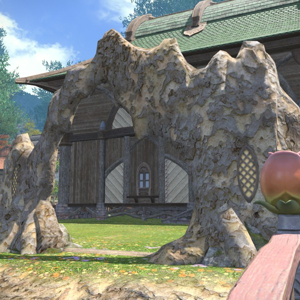林间圆弧围栏 最终幻想14住宅区 外墙装饰